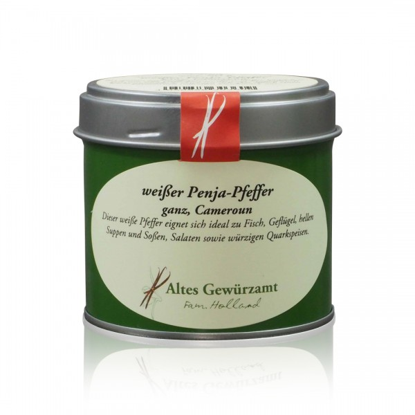 Weißer Penja-Pfeffer ganz 90 g Dose