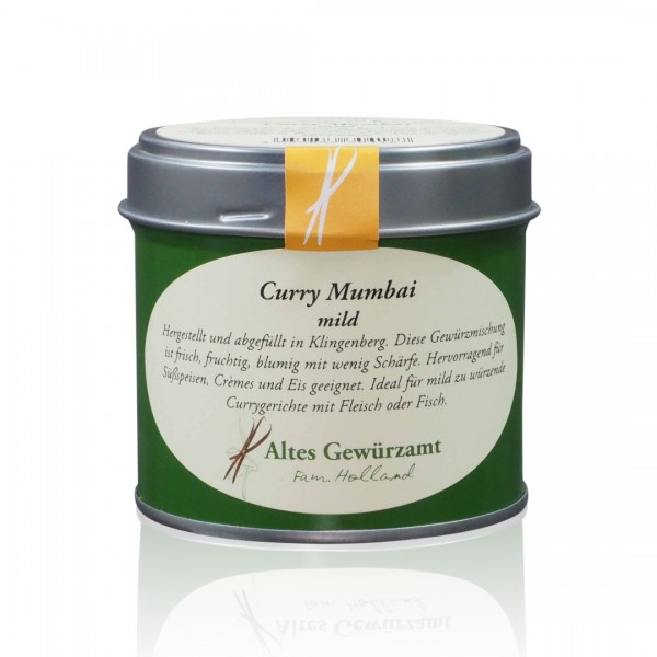 Curry Mumbai mild Gewürzmischung - 70 g Aromadose