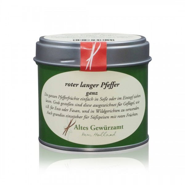 Ganzer Roter Langer Pfeffer (Stangenpfeffer) 60 g Dose