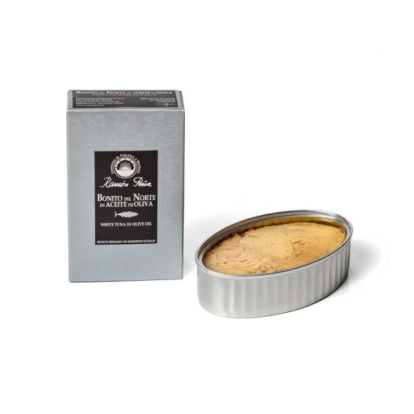 Weißer Thunfisch-Filets in Olivenöl 115 g Dose