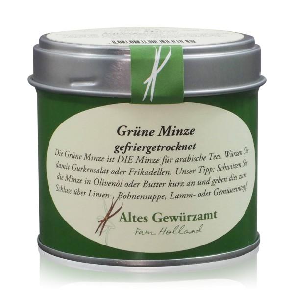 Grüne Minze gefriergetrocknet 8 g Dose