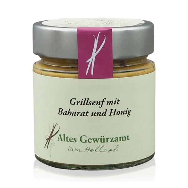 Grillsenf mit Baharat + Honig 200 ml